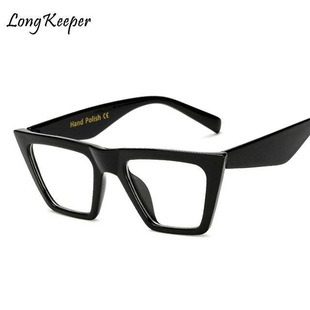 72168bd06562 Długi Keeper Placu Jasne Okulary Damskie Okulary Mody Okulary Oprawki  Okularów Okulary Do Czytania Rama Przezroczysty