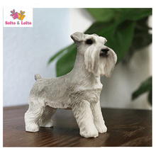 MINI schnauzer terrier dog model craft,artificial puppy,home desk car decoration,party