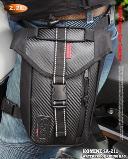 Latest Komine SA 211 Motocross Leg Bag Motorcycle Waterproof Waist Bag Outdoor Multifunctional Ve