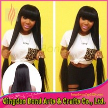 Brazilian Virgin Hair Full Lace Wig Straight Glueless Full Lace Human Hair Wigs with bangs Free Shinpping