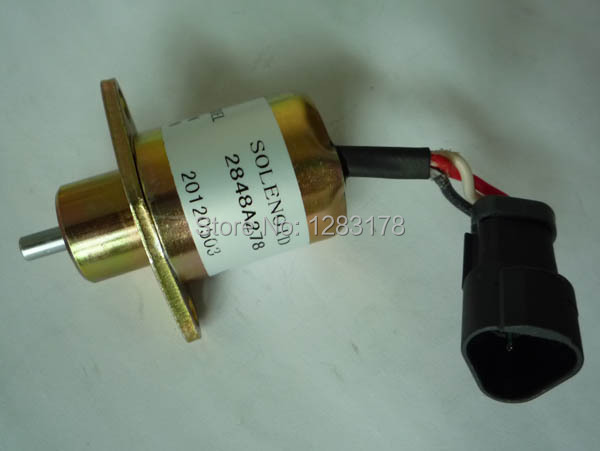 Fuel shutoff solenoid 2848A278 for Perkins UB704 ENGINE, Free shipping fuel blends for caribbean power a techno economic feasibility study