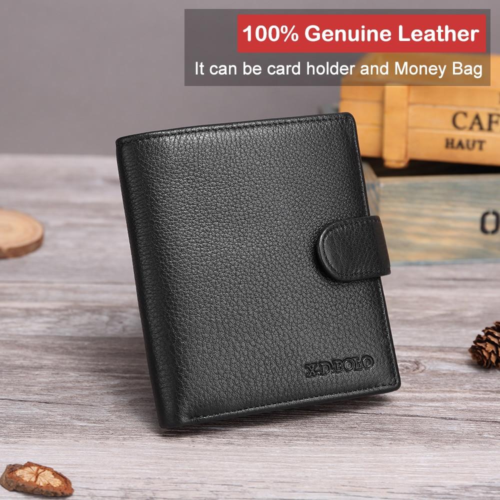 X.D.BOLO Leather Men Wallet Fashion Coin Purse Card Holder Genuine Leather Wallets Men Portomonee Male Clutch Purses For Money