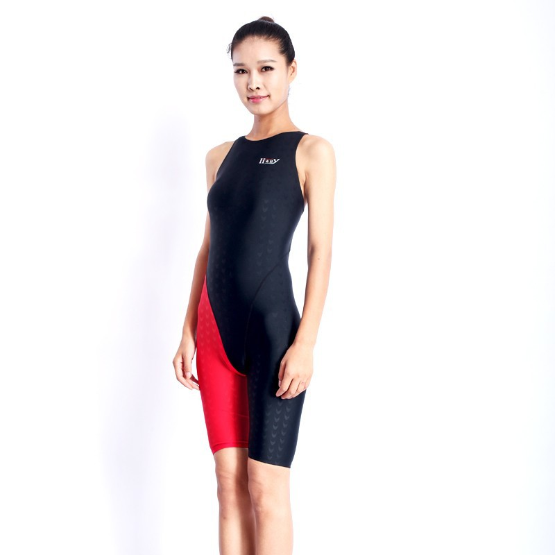 HXBY swimwear girls racing swimsuits sharkskin professional swimsuits knee one piece competition swim suits one piece 6