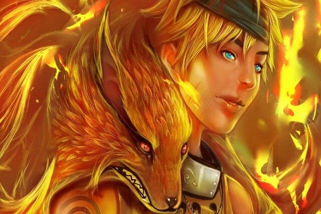 Canvas Poster Naruto Hokage Nine Tailed Fox