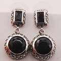Черный Оникс Стерлингового Серебра 925 Серьги TE472