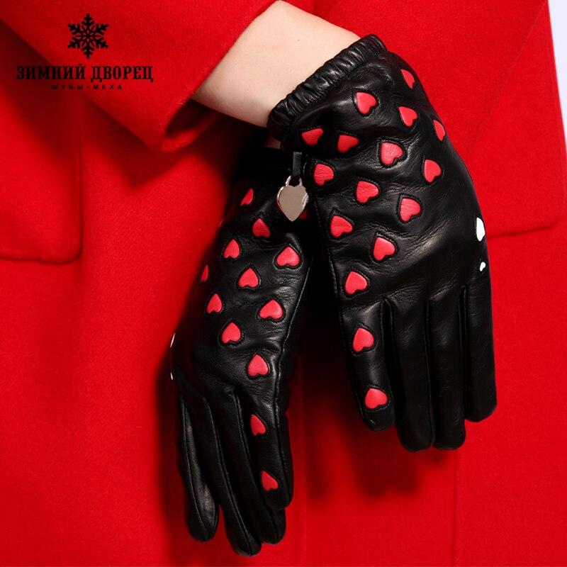 Image 3 - Новые Модные кожаные перчатки женская обувь из натуральной кожи популярная модель сердца кожаные перчатки Зимний дворец перчатки-in Женские перчатки from Аксессуары для одежды on AliExpress - 11.11_Double 11_Singles' Day