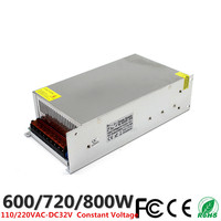 DC 32V 18.7A 600W 22.5A 720W 25A 800W LED Driver Switching Power Supply 110V 220V AC DC Constant Voltage Transformer CCTV CNC