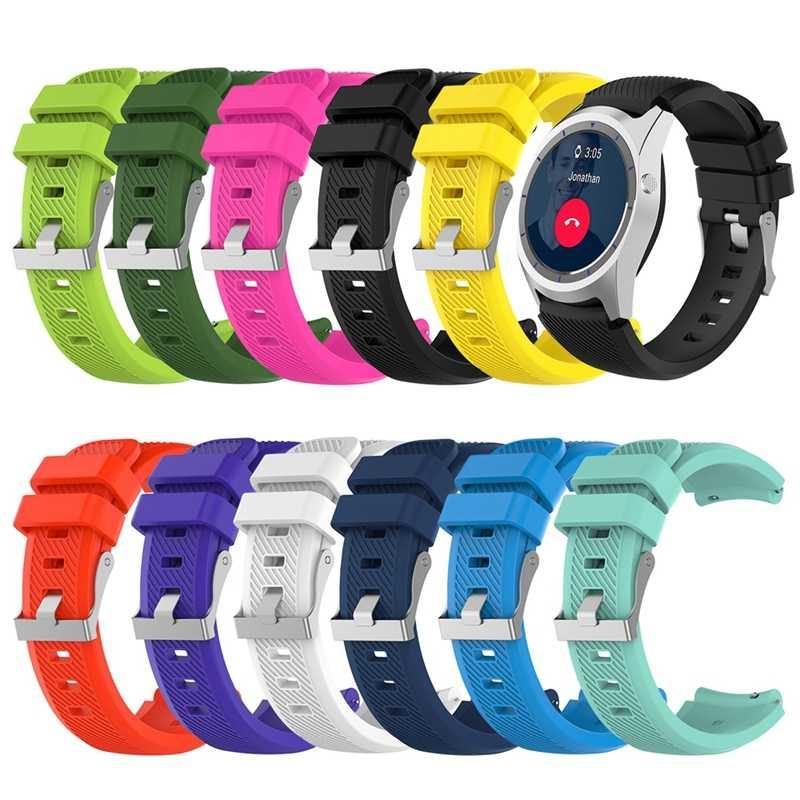Sport banda di silicone per ZTE Quarzo orologio intelligente sostituire cinturino bracciale cinturino cinturino per Fossile Q MARESCIALLO gen2 accessorio