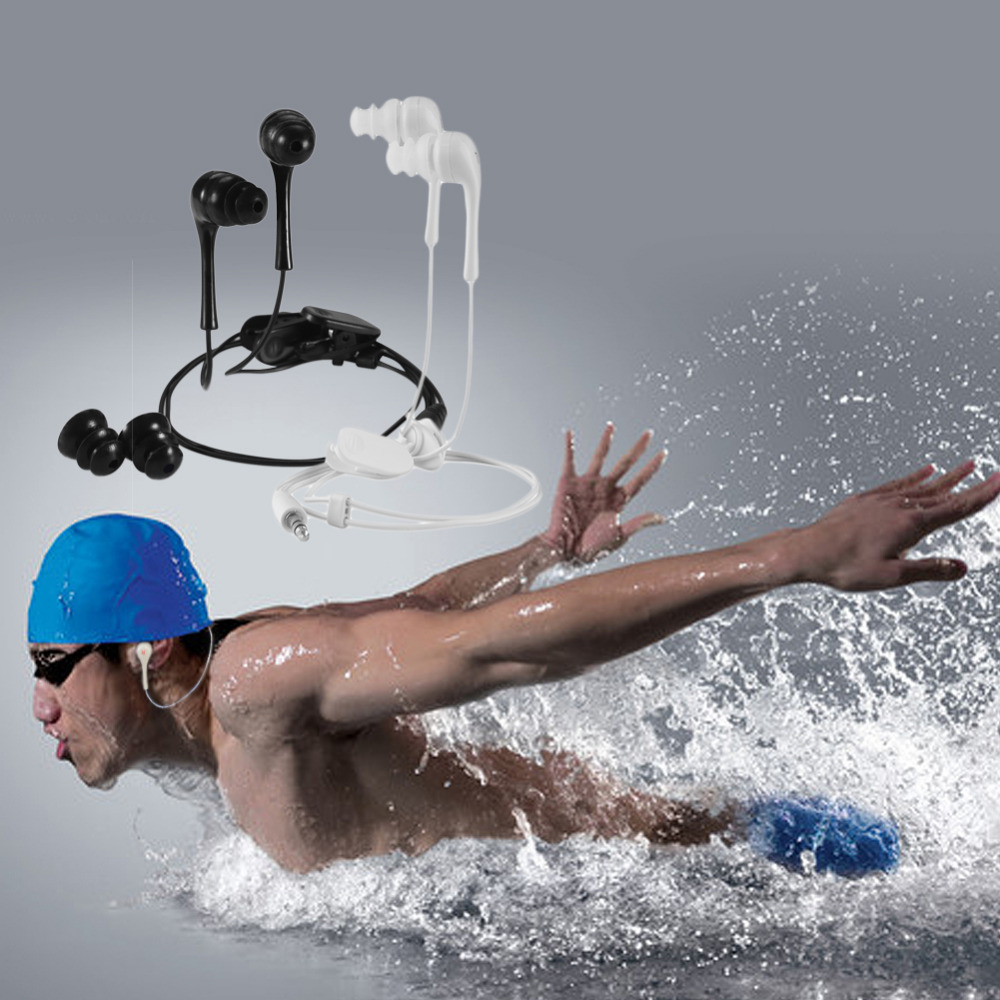 RondaFul 3.5mm waterproof In-Ear Earphone Headphone for swimming mp3 FM Radio Audio Tuner mp3 player niorfnio portable 0 6w fm transmitter mp3 broadcast radio transmitter for car meeting tour guide y4409b