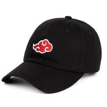 60d60529835b5 Algodón japonés Akatsuki logotipo Anime Naruto sombrero de papá Uchiha  familia logotipo bordado gorras de béisbol