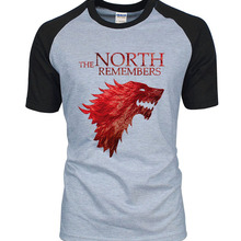 Game Of Thrones House Stark The North Remembers Men Raglan T Shirts 2019 Summer 100 Cotton