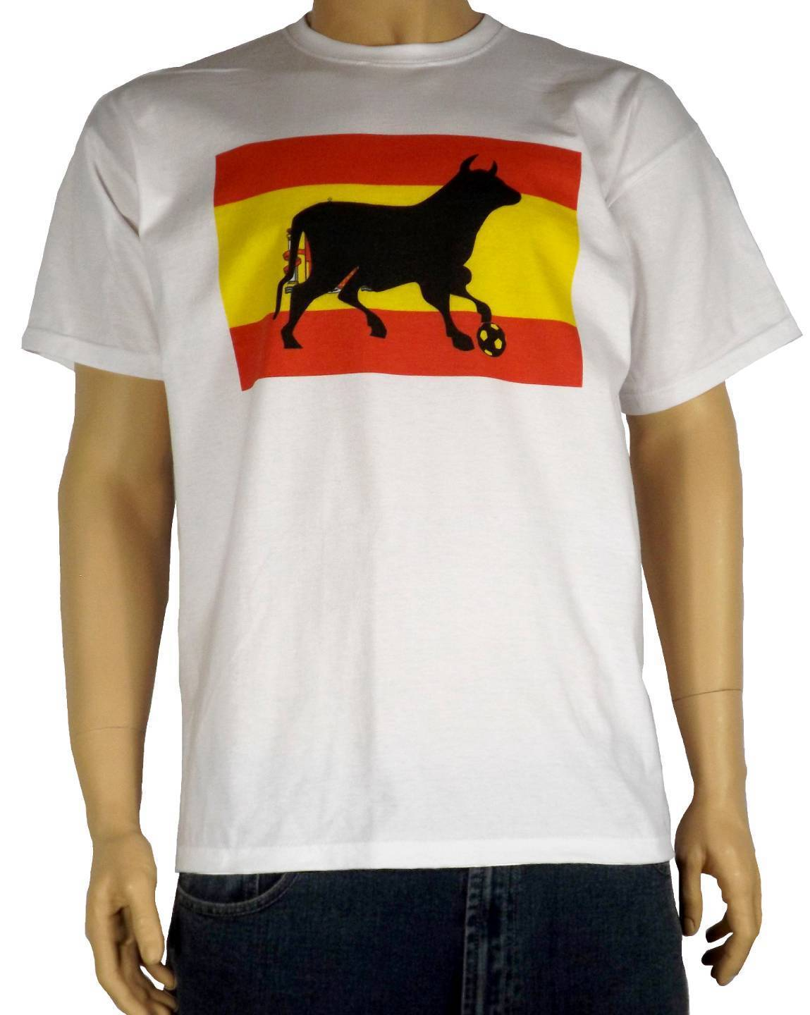 SPANISH FOOTBALLER BULL T-SHIRT - Spain Espana Futbol - Sizes S to 3XL Cute Tatoo Lover ...
