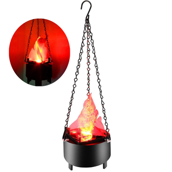 цена на Electronic Hanging LED Fake Fire Flame Effect Light Halloween Artificial 3D Campfire Lamp for Christmas,Festival Night Club
