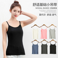 Summer New Crop Top Women Modal camisole female short paragraph wear small slings inside womens large size bottoming crop tops