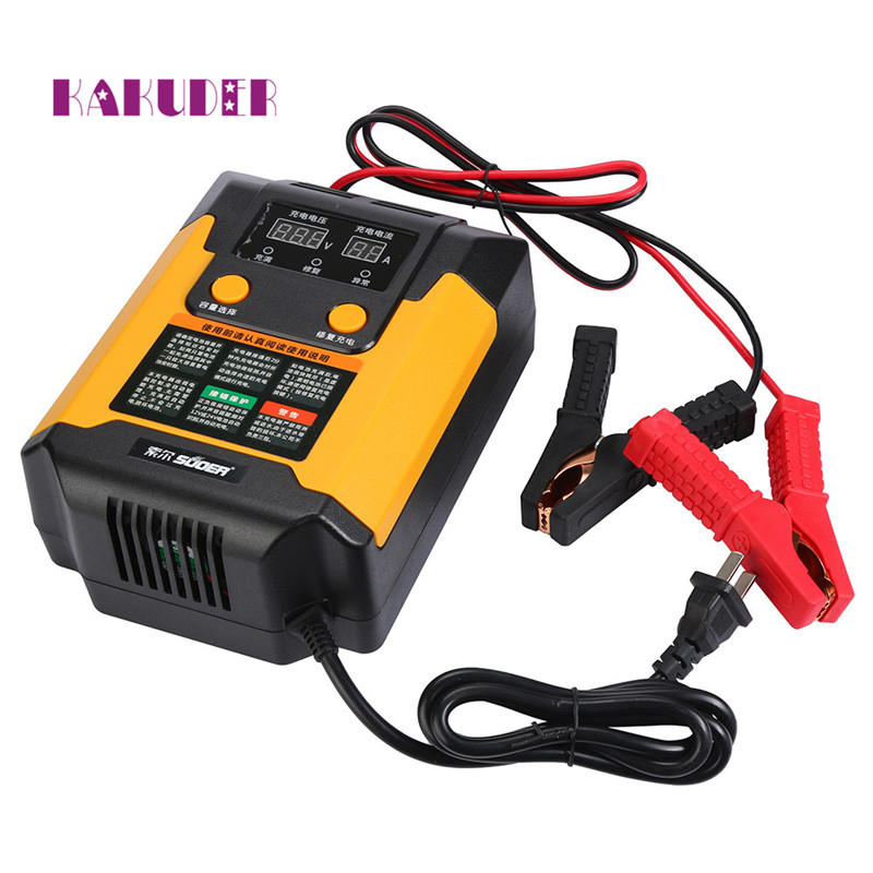 2017 new charger Full Automatic 12V 24V Intelligent Pulse Repair Car font b Battery b font