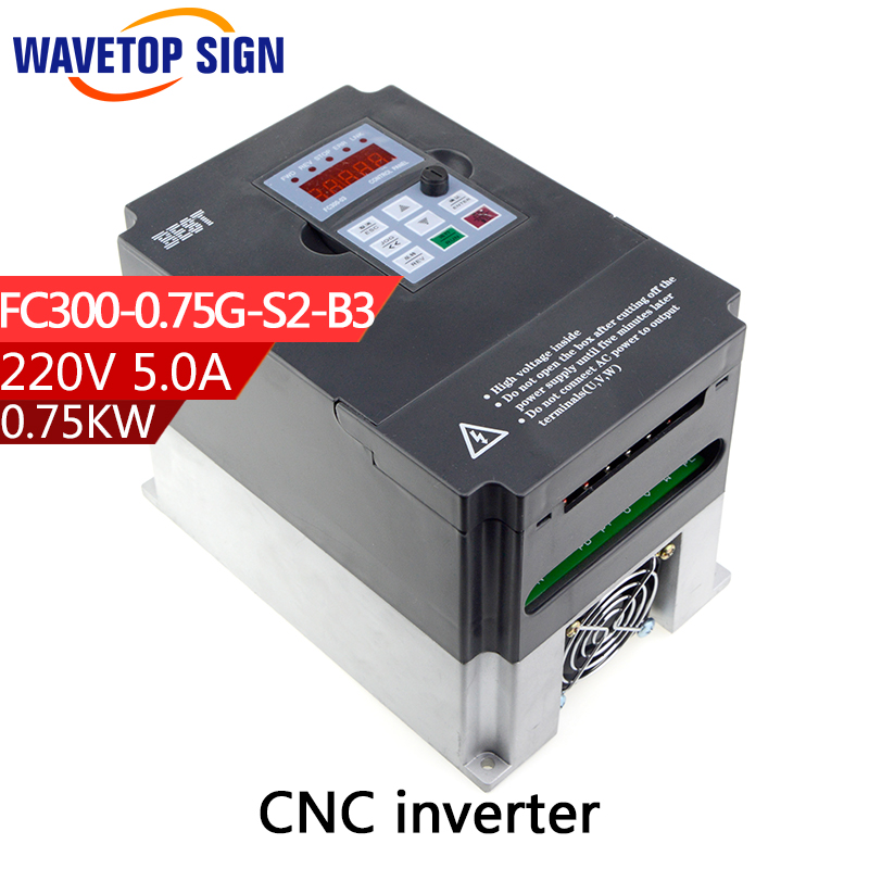 цена на best inverter 0.75kw 750w cnc router inverter 0.75kw   inverter FC300-0.75G-S2-B3 single phase AC 220v  current is 5A