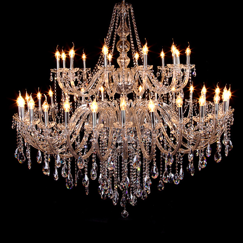 цены European style crystal chandelier LED living room lamp luxury Hotel engineering lamp villa dining room bedroom candle lighting