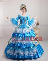 New Wine Sky Blue 17 18th Century European Court Dress Marie Antoinette Dress No Include Crinoline