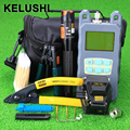 KELUSHI 20 unids De Fibra Ftth Tool Kit 10 mW Lcator Con SKL-6C cuchilla de fibra óptica Visual de Fallos y separador de fibra herramienta de corte