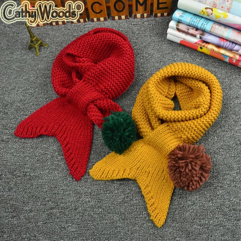 ツ)_/¯Niños bufanda Niñas Niños poco merma punto ganchillo pañuelo ...