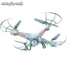 360-Eversion Abbyfrank RC Helicóptero Drone X5C 0.3 M Cámara 2.4G Control Remoto de 4 CANALES 6 Axis Quadcopter Luz Led Avión volando