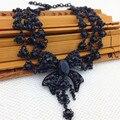 Departamento negro de Múltiples capas Collar de la Declaración 2015 El Último Diseño Diseñador Collares y Colgantes Collar de Moda Al Por Mayor