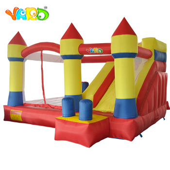 цена на YARD Inflatable Games Bouncy Castle Obstacle Inflatable Bounce House With Slide 4x3.8 x2.5m Home Use Trampoline For Kids Party