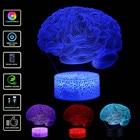 LED Brain 3D Lamp Cr...