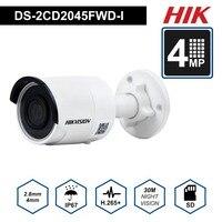 HIK Оригинальная камера видеонаблюдения Darkfighter наружная DS 2CD2045FWD I 4MP ИК фиксированная пуля камеры видеонаблюдения ip камера s с ИК 30 м