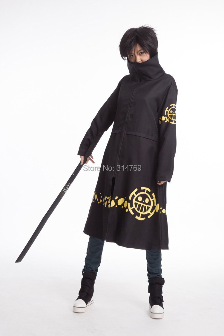 Fashion Anime One Piece Cosplay Costumes Trafalgar Law 2 years later Robe Halloween Party Outfit Embroidery Cloaks