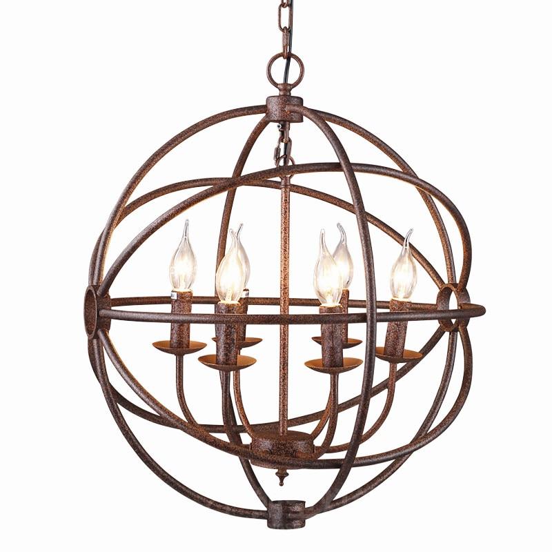 rh industrial lighting restoration hardware vintage pendant lamp foucault iron orb chandelier rustic iron gyro loft