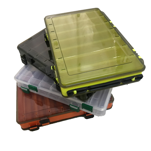 Fishing Lure Box Double Sided Tackle Box Multifunctional Fishing Box Accessories Box Minnows Bait Fishing Tackle Container