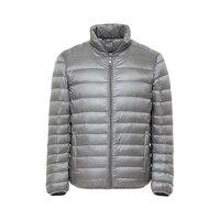 2018 New Men Winter Jacket Ultra Light White Duck Jackets Casual Portable Winter Coat for Men Plus Size Down Park#c89