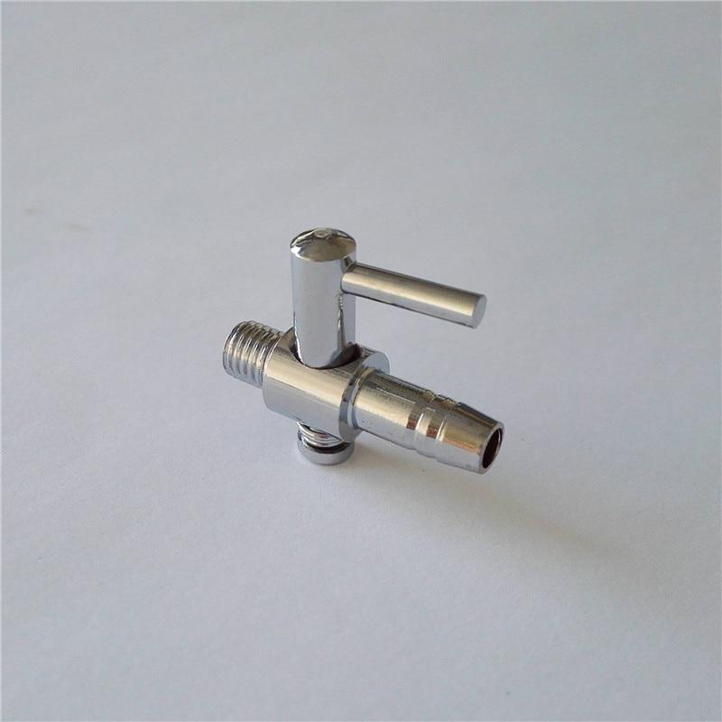 1 st 4 mm anslutningsdiameter silverton metallrör akvarium luftventil tillbehör akvarium mycket hög kvalitet