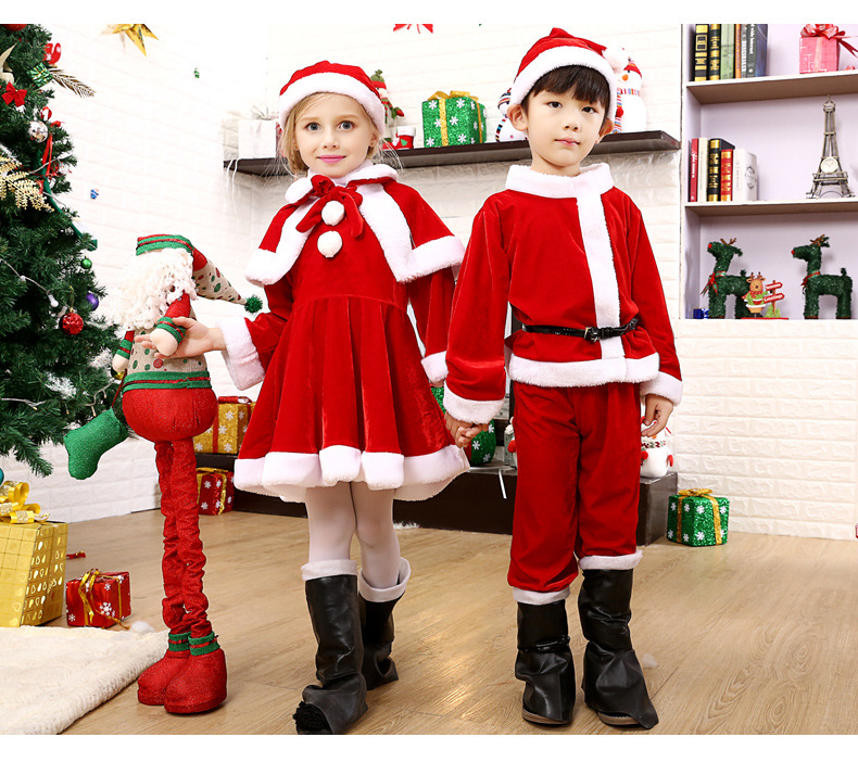 Adult and kids Costume Suit Christmas Costumes Christmas Put on Christmas clothes with the children