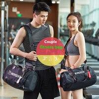 TOP Outdoor Lightweight Nylon Sports Gym BagsTraining Fitness Travel Handbag Yoga Mat Sport Bag Dry and wet separation shoes