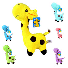 лучшая цена 2019 12cmUnisex Cute Gift Plush Giraffe Soft Toy Animal Dear Doll Baby Kid Child Christmas Birthday Happy Colorful Gifts6 colors