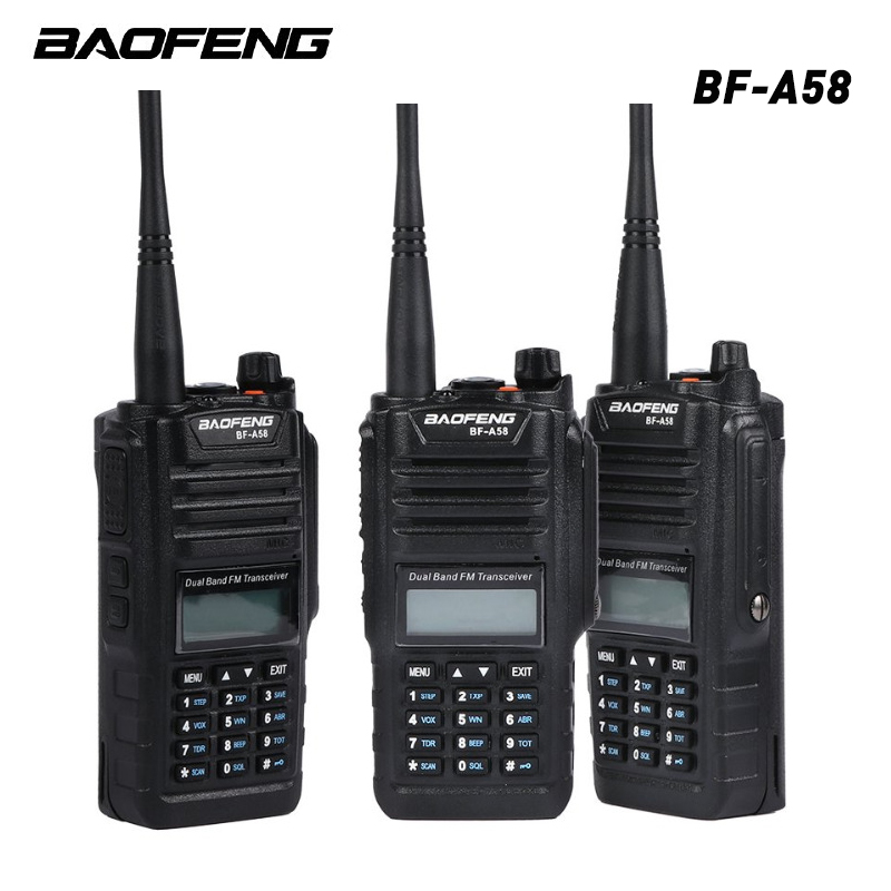 Professional Multiband Baofeng BF-A58 Waterproof Walkie-talkie with SOS FM Radio Station Radio Two Way Dual Band image