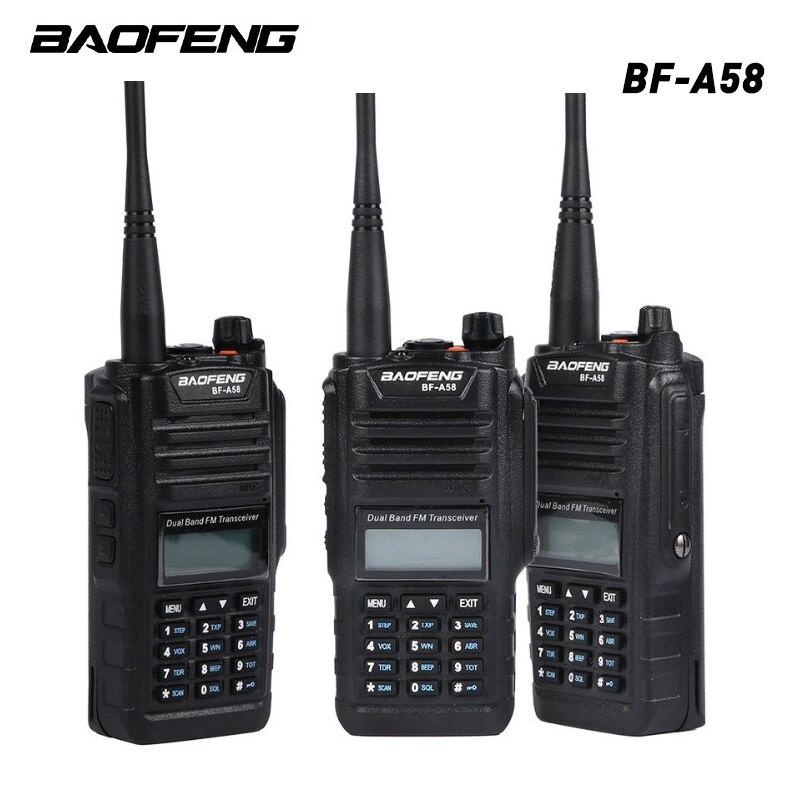 Talkie-walkie imperméable à l'eau de BF-A58 professionnel de Baofeng avec la Radio bidirectionnelle de Station de Radio de FM de SOS double bande