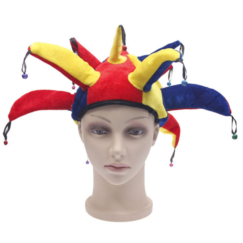 FashionZone Clown Hat Halloween Wizard Witch Hat Women Men Costumes Party Props Hats
