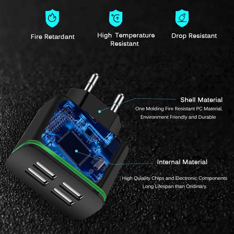 XEDAIN شاحن الهاتف المحمول الاتحاد الأوروبي التوصيل ماكس 5 فولت 4A العالمي شاحن الجدار محول السفر مع 4 منافذ USB آيفون سامسونج Xmi باد