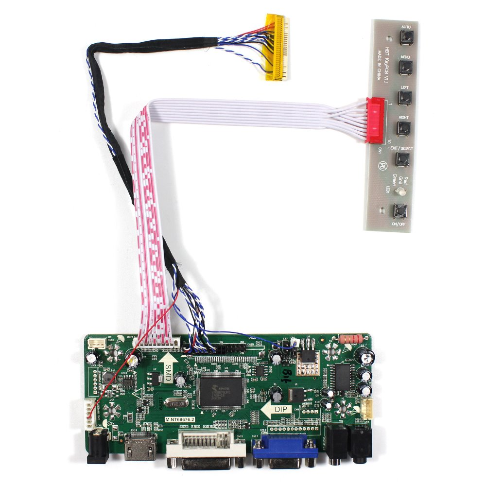HDMI DVI VGA Audio Lcd Controller Board For 10.1 HSD100IFW1-A D E F 1024x600 LCD Screen