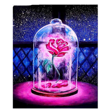 NEW  DIY full square Diamond 5D painting Red Rose Flower Embroidery Cross Stitch 3D Rhinestone mosaic