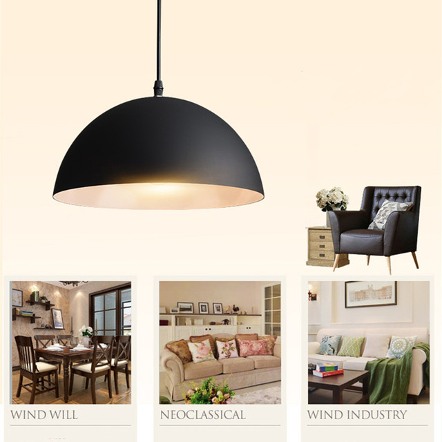 Modern Pendant Lights White U0026 Black Aluminum Lamp Shade Dining Room  Restaurant Coffee Shop Bar Hotel