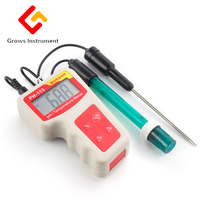 Digital PH Tester Temperature Meter Pen Automatic Correction Thermometer For Water Quality Food Aquarium Pool Large LCD Display