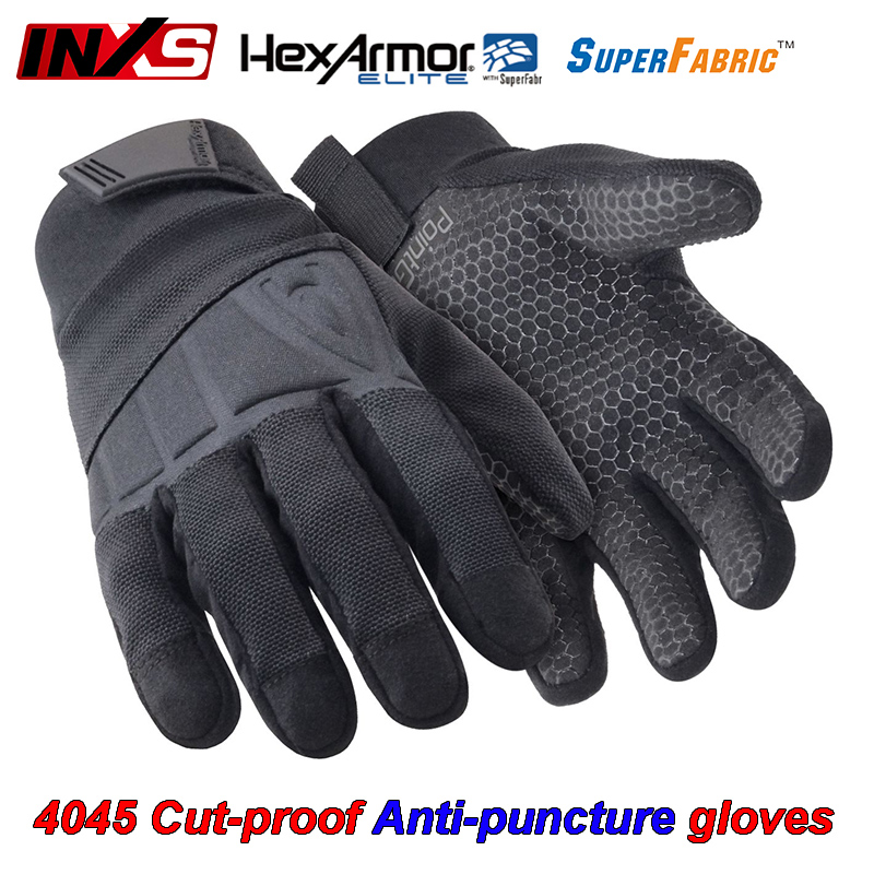SAFETY-INXS 4045 Cut-proof Anti-puncture gloves Field survival Military escort protective gloves Multipurpose Mechanical gloves strong 0 35mmpb medical x ray protective gloves ray workplace use gloves lead rubber gloves