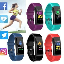 Get more info on the 115Plus Bluetooth USB Fitness Bracelet Health Tracker 0.96 inch Color Screen Heart Rate Monitor Digital Watch Sport Wristband