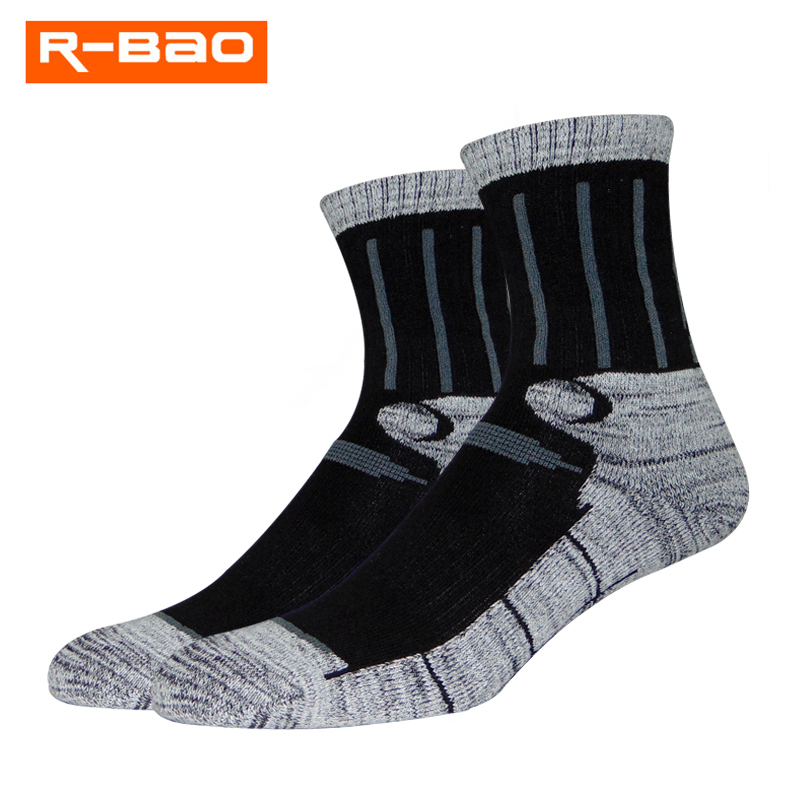 2 Pairs Sport Outdoor Hiking Camping Skiing Socks Winter Thermal Breathable Bike Cycling Climbing Socks Keep Warm 036
