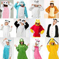 NEW Adult Pajamas Cosplay Cartoon Animal Onesie Sleepwear Cat Tiger Stitch Bear Panda Dog Unicorn Free Shipping