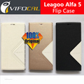 Leagoo Alfa 5 Case with battery cover 100% Original Official Luxury Leather Flip Cover For Leagoo Alfa 5 Mobile Phone